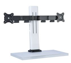 Sit-Stand Height Adjustable Monitor Mount for Single or Dual  Monitors